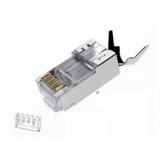 Qport Q-J710M Cat7 Metal Konnektör - 10 Adet Rj47 Cat7 Konnektör ve Ayraç